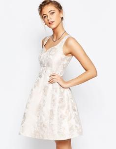 Розовое платье с жаккардовым принтом Coast Bridget - Розовый