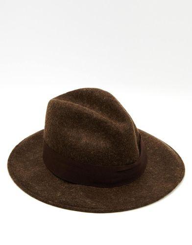 Мягкая фетровая шляпа с широкими полями Catarzi - Коричневый