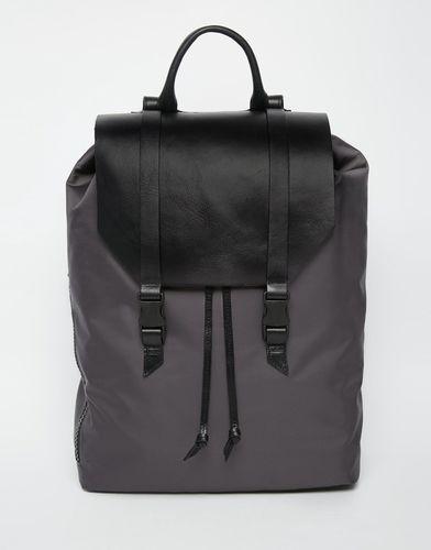 Рюкзак с отделкой из натуральной кожи Royal RepubliQ Galactic Legioner - Черный