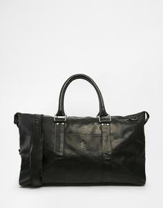 Кожаная сумка Lyle & Scott - Черный