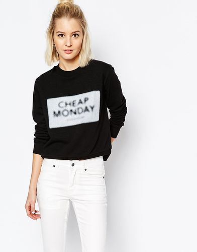 Свитшот с расплывчатым принтом логотипа Cheap Monday - Черный