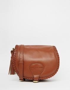 Кожаная сумка-седло Ruby Rocks - Коричневый