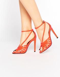 Сандалии на каблуке ASOS HAVE A BALL - Оранжевый