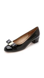 Туфли-лодочки Vara на низком каблуке Salvatore Ferragamo
