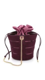 Сумка-ведро с разрезами и съемной сумочкой Salvatore Ferragamo