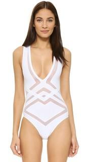 Сплошной купальник Bane с глубоким V-образным вырезом OYE Swimwear