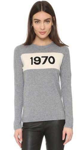Кашемировый свитер с надписью «1970»