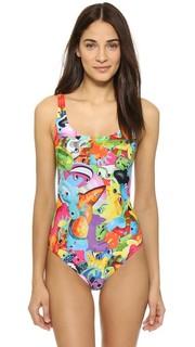 Сплошной купальник Flamingo Moschino