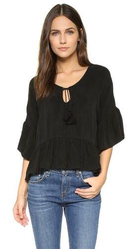 Оборчатый блуза Kylie в стиле кантри