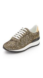 Кружевные кроссовки Casadei
