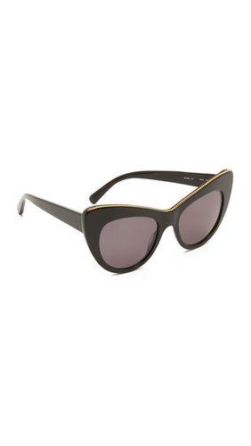Солнцезащитные очки «кошачий глаз» с цепочкой