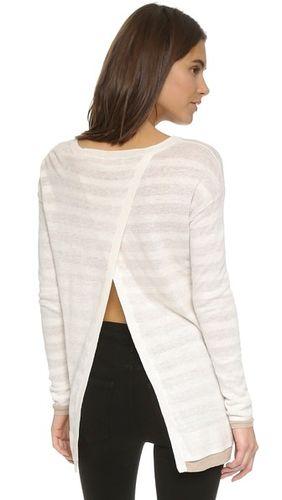Двусторонний свитер Linda с разрезом сзади