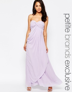 Платье макси в стиле бандо с рюшами Jarlo Petite Claudia - Сиреневый