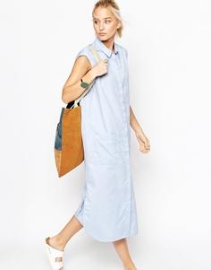 Платье-рубашка ASOS WHITE - Светло-голубой