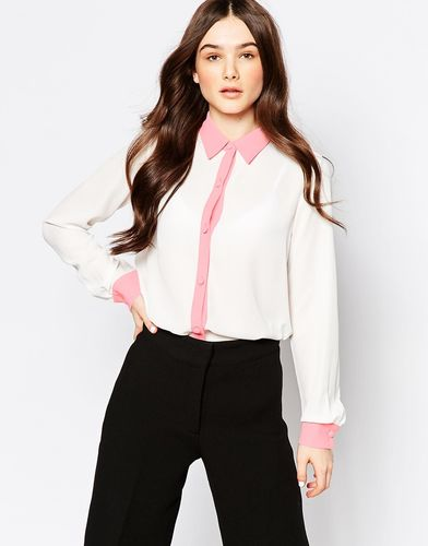 Блузка с контрастной отделкой Hedonia Kirsten - Коралловый