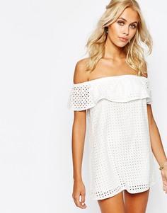 Платье с оборкой Fashion Union - Белый