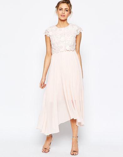 Платье миди с фактурным 3D‑кружевом Coast Darianna - Blush
