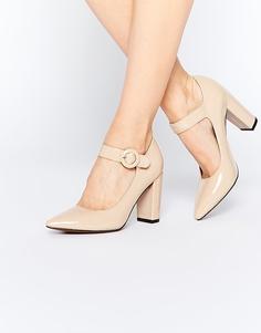 Туфли на блочном каблуке Truffle Collection Mona Mary Jane - Телесный