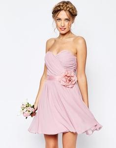 Шифоновое платье мини ASOS WEDDING - Телесный