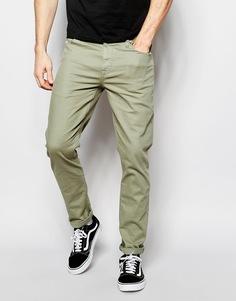 Зауженные светлые джинсы цвета хаки ASOS - Sea spray