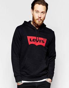Черный свитшот с капюшоном и логотипом в форме летучей мыши Levi's - Черный Levi's®