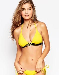 Бикини с треугольными чашечками Calvin Klein Intense Power - Пламенный желтый