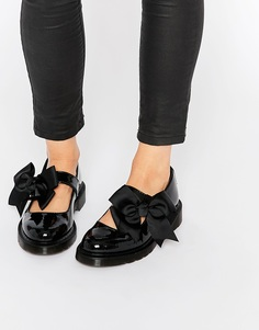 Туфли на плоской подошве с бантом Dr Martens Mariel Mary Jane - Черный