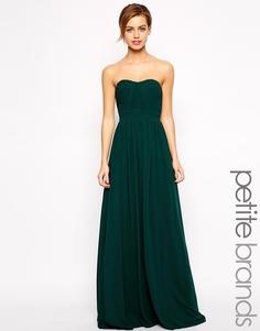 Длинное платье-бандо Jarlo Petite - Черный