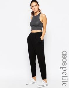 Трикотажные брюки‑галифе с запахом спереди ASOS PETITE - Черный