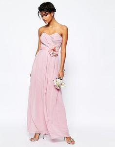 Шифоновое платье макси бандо ASOS WEDDING - Морская пена