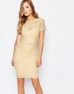 Кружевное платье лимонного цвета Body Frock Anya - Lemon sherbert