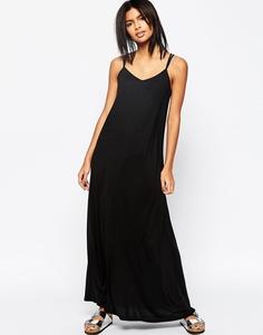 Платье макси на бретельках ASOS - Черный