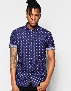 Рубашка с короткими рукавами и принтом Religion - Синий
