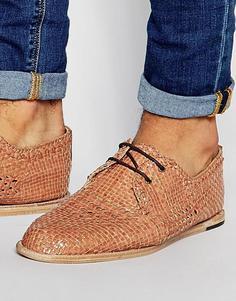 Плетеные туфли Hudson London Barra - Коричневый