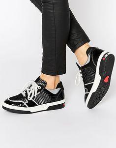 Кроссовки с сетчатыми вставками Love Moschino - Черный