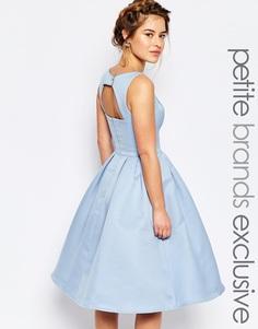 Приталенное платье миди Chi Chi London Petite - Синий