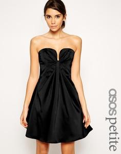 Платье мини бандо ASOS PETITE - Черный