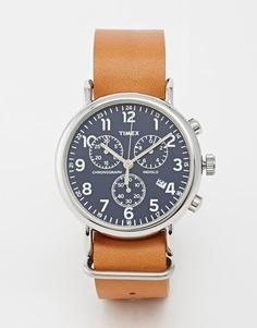 Часы-хронограф в стиле милитари Timex Weekender - Рыжий