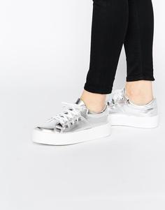 Кроссовки на плоской платформе ASOS DODGEMS - Серебряный