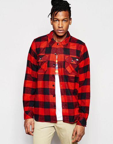 Клетчатая рубашка классического кроя с карманами спереди Dickies - Красный