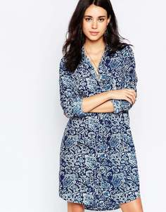 Платье-рубашка с принтом пейсли Vila - Синий