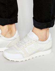 Беговые кроссовки с логотипом Armani Jeans - Белый