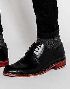 Кожаные туфли дерби Ted Baker Irron - Черный