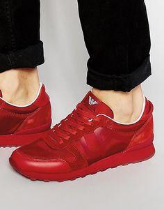 Беговые кроссовки с логотипом Armani Jeans - Красный