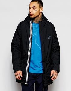 Парка с капюшоном adidas Originals - Черный
