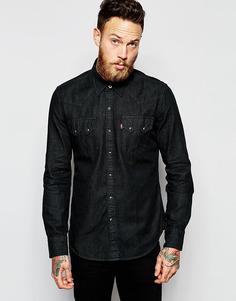 Черная джинсовая рубашка зауженного кроя в стиле вестерн Levi's - Черный Levi's®