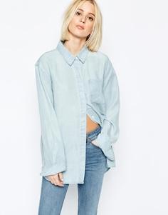 Джинсовая выбеленная рубашка Weekday - Светло-голубой