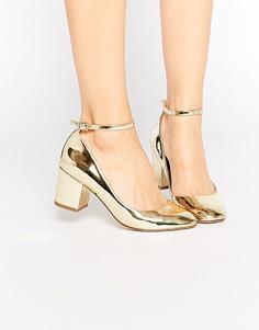 Туфли на каблуке ASOS SHOWBIZ - Золотой