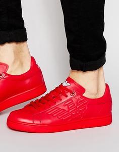 Кроссовки с логотипом EA7 - Красный