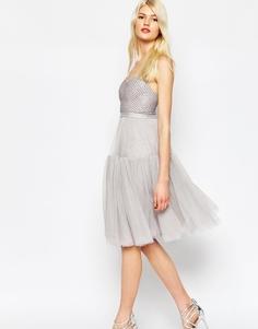 Пышное платье из тюля с декоративной отделкой Needle & Thread